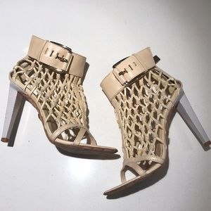 LAMB knotted caged bootie
